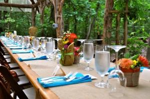 Dirty Dinner Table Setting
