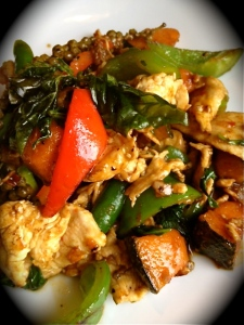 Rice: Sautéed Chicken & Asian Pumpkin